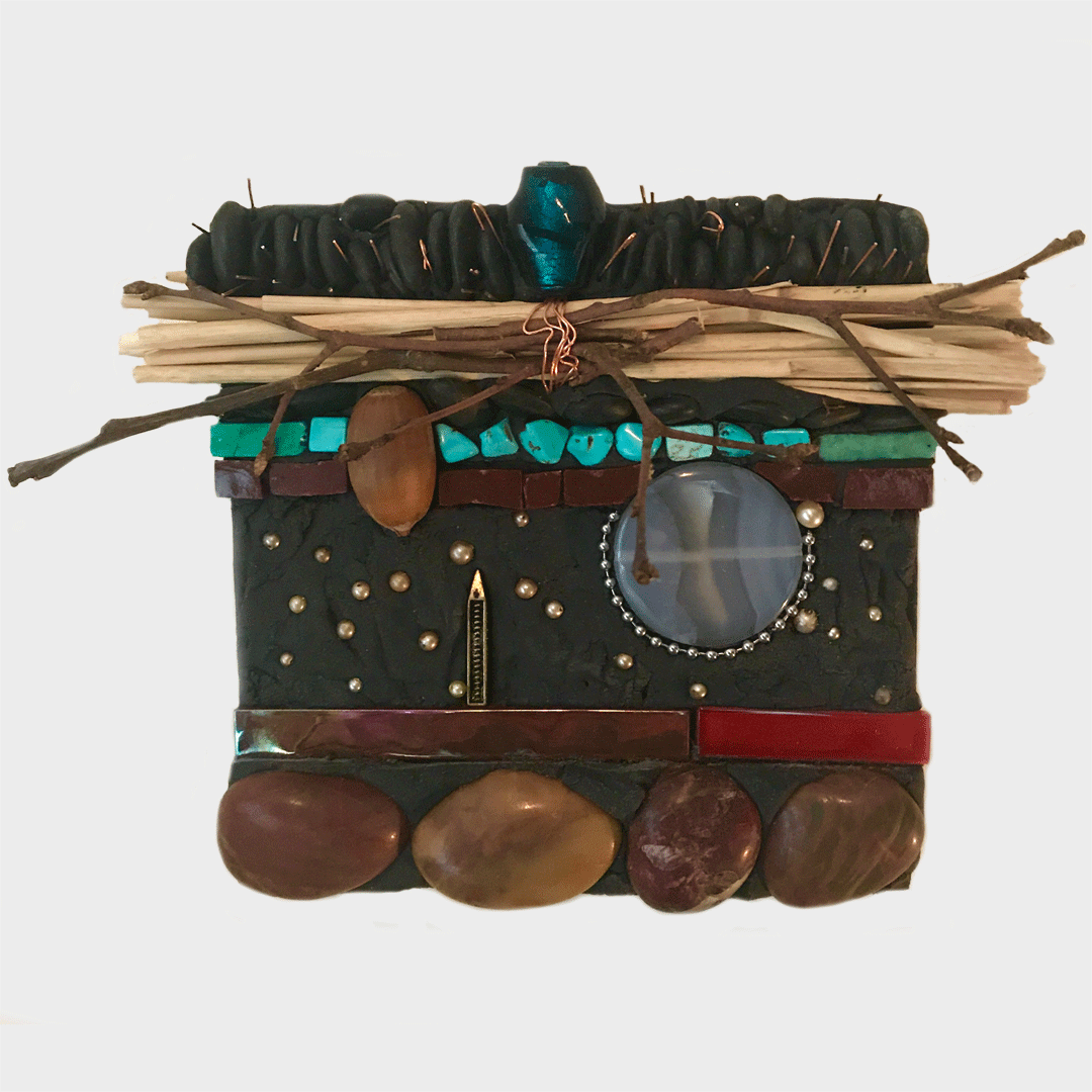 """6""""x6"""" Nature Collage wall hanging"""